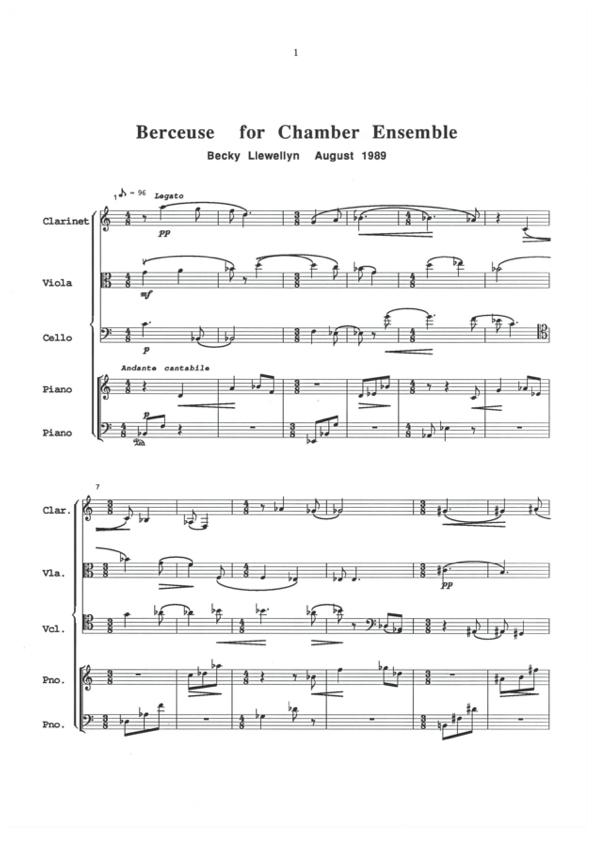 Berceuse chamber score